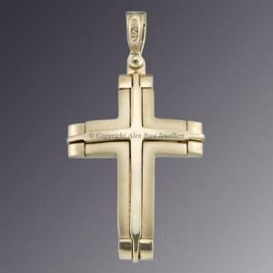 18KT CURB STYLE CROSS