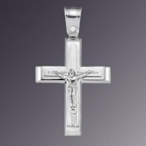 18KT White Gold Crucifix