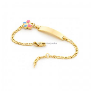 Butterfly ID Anchor Chain Bracelet