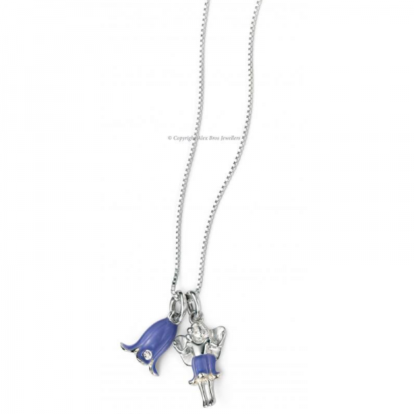DIAMOND SET BLUEBELL AND FAIRY NACKLACE