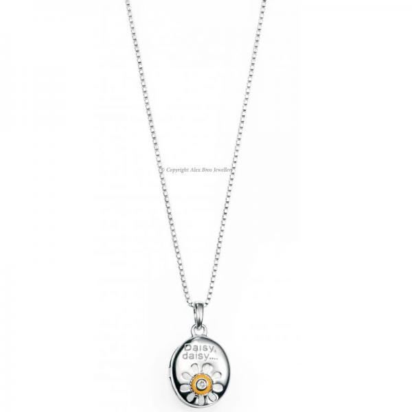 DIAMOND-SET-DAISY-SILVER-LOCKET-NECKLACE