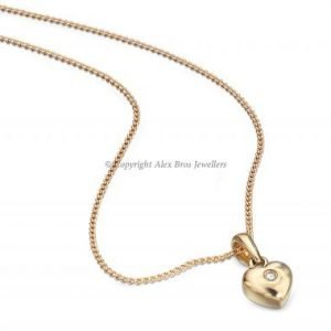 DIAMOND SET GOLD LOVE HEART NECKLACE