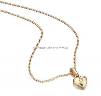 DIAMOND SET GOLD LOVE HEART NECKLACE
