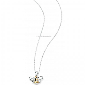 DIAMOND-SET-GOLD-PLATED-BUMBLEBEE-NECKLACE