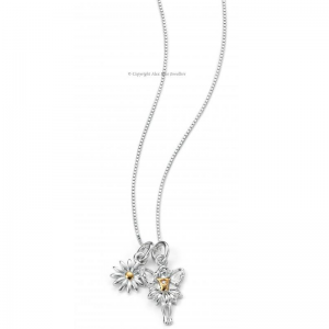 DIAMOND-SET-GOLD-PLATED-FAIRY-AND-DAISY-NECKLACE