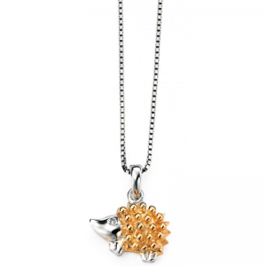DIAMOND-SET-GOLD-PLATED-PORCUPINE-NECKLACE