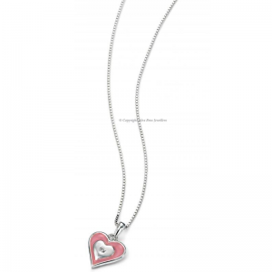 DIAMOND-SET-PINK-ENAMEL-AND-SILVER-HEART-NECKLACE
