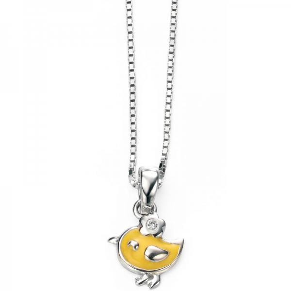 DIAMOND SET YELLOW BIRDY NECKLACE