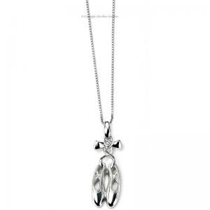 DIMOND-SET-SILVER-BALLERINA-SLIPPERS-NECKLACE