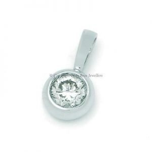27ct Diamond Bezel Set Pendant