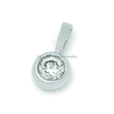 27ct Diamond Bezel Set Pendant