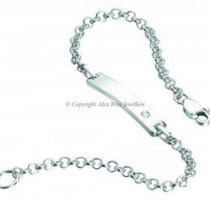 Diamond Set ID Bracelet 1