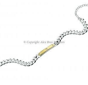 Diamond Set ID Bracelet 2