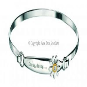 Diamond set Daisy Bangle