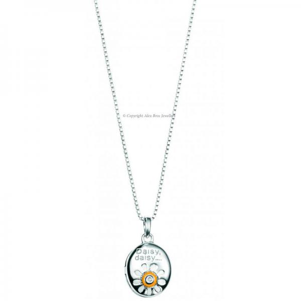Diamond set Daisy Pendant and Chain