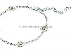 Diamond set Flower Bracelet