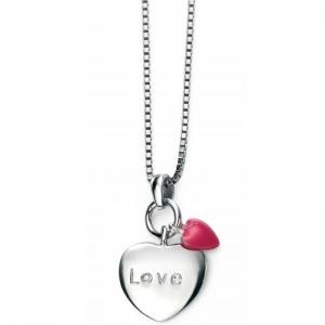 Diamond-set-Pink-Enamel-LOVE-HEART-NECKLACE