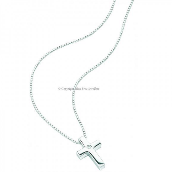 Diamond-set-cross-pendant-and-Chain