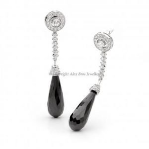 Drop Earrings Set with Brilliant Round Cut Cubic Zirconia 2