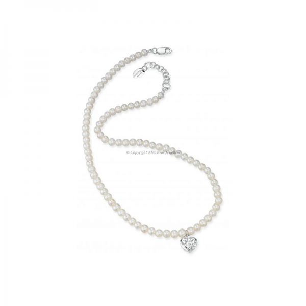 FRESHWATER PEARL CUT OUT HEART NECKLACE