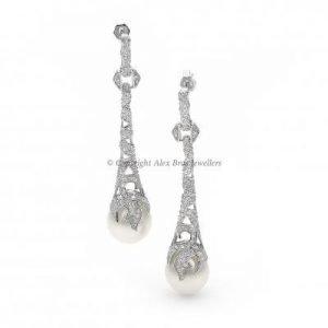 Ornate Pearl Drop Earrings