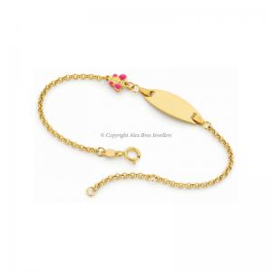 Pink Butterfly ID Bracelet
