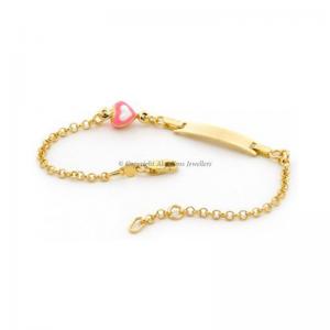 Pink Heart ID Bracelet