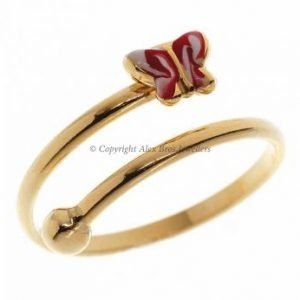 Red Butterfly Ring