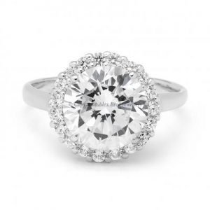 Ring Set with Brilliant Round Cut Cubic Zirconia 2