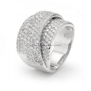 Ring Set with Round Brilliant Cut Cubic Zirconia 1