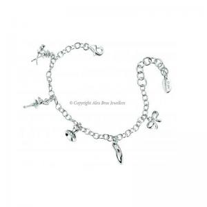 Diamond Set Charm Bracelet