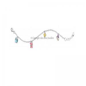 Diamond Set Colourful Charm Bracelet