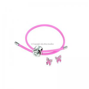 Diamond Set Rubber Enamel Bracelet