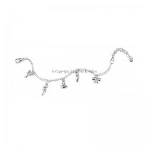 Diamond Set Ballerina Charm Bracelet
