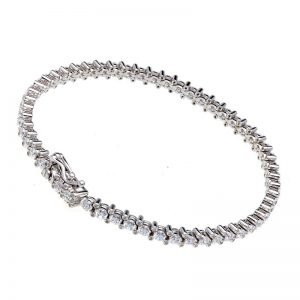 B9453-RH-RHODIUM-4-PRONG-3MM-CZ-TENNIS-BRACELET