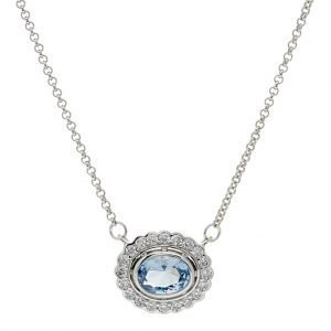 P942-B-OVAL-BLUE-CLEAR-CZ-PENDANT-ON-FINE-CHAIN