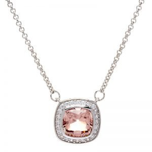 P9427-MORGANITE-CZ-SQUARE-PENDANT-ON-FINE-CHAIN